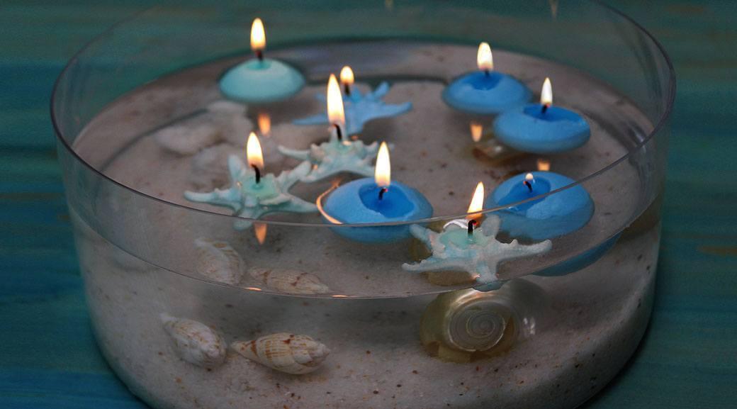 Velas flotantes piscina hechas en casa de flores estrellas for Velas flotantes piscina