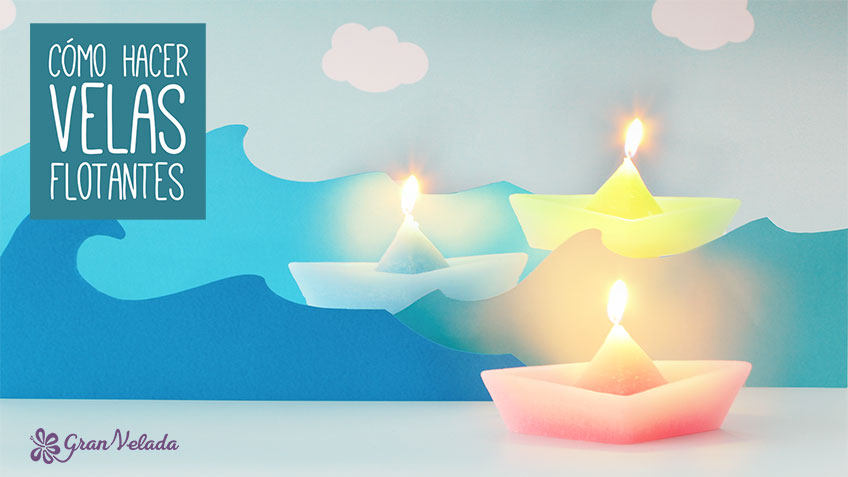 Tutorial para hacer velas flotantes piscina con vídeo y paso a paso
