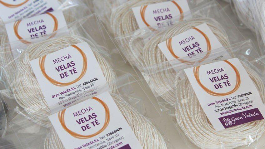 Mechas de Algodón para fabricar tus propias velitas de Té.