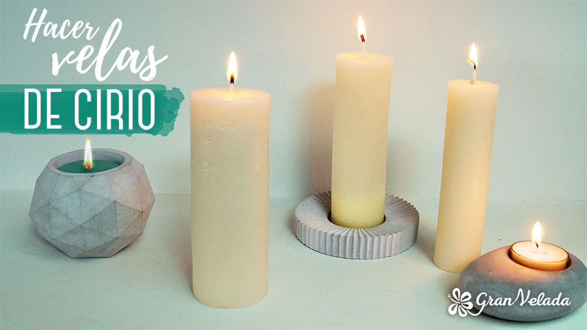 Video y tutorial para hacer velas de cirio en casa