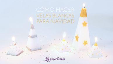 Tutorial para hacer velas blancas para Navidad en casa con vídeo