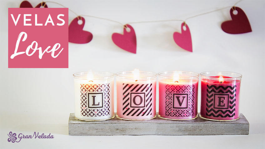 Kit para hacer velas love con tutorial y vídeo