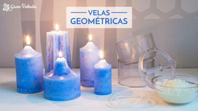 Tutoriales para hacer velas geometricas de diferentes formas, colores y texturas con vídeos.