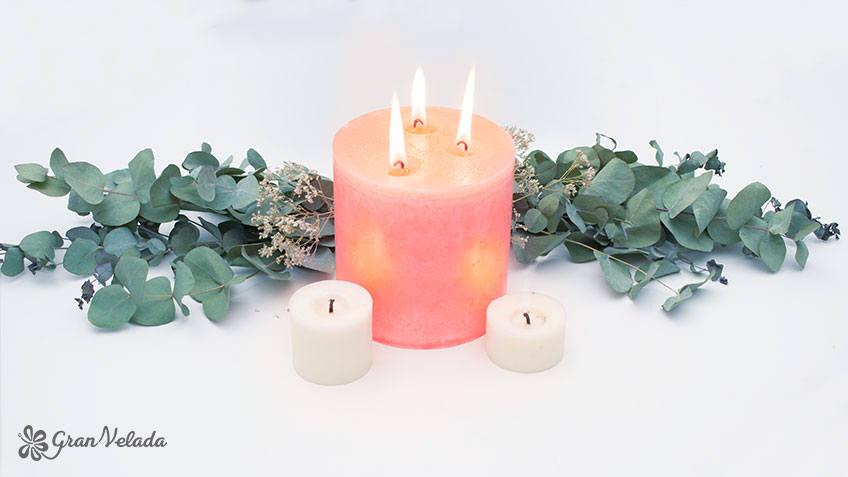 centros de mesa con velas diy