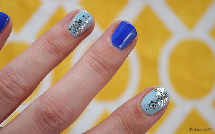 nail art azul glitter 1