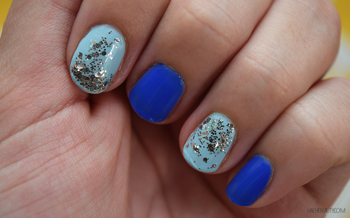 nail art azul glitter 2