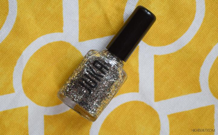 nail art azul glitter 6