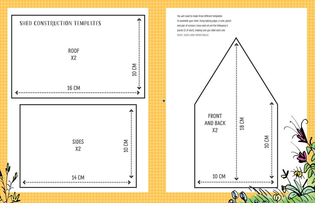 Gingerbread shed templates