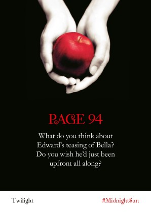 Twilight Series Readalong asset: page 94 What do you think about Edward's teasing of Bella? Do you wish he'd just been upfront all along?