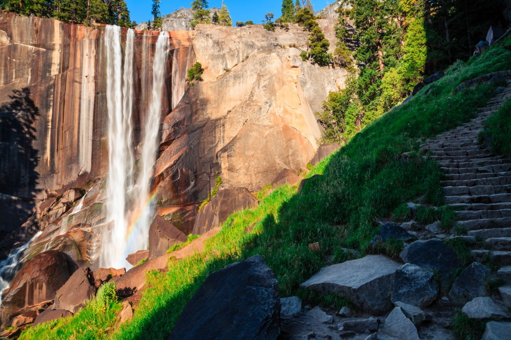 Vernal Falls on the Mist Trail in Yosemite National Park