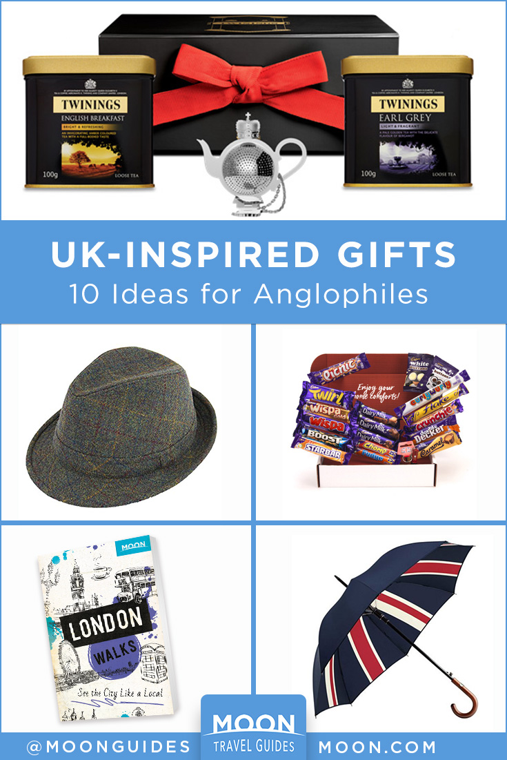pinterest graphic depicting gifts from england
