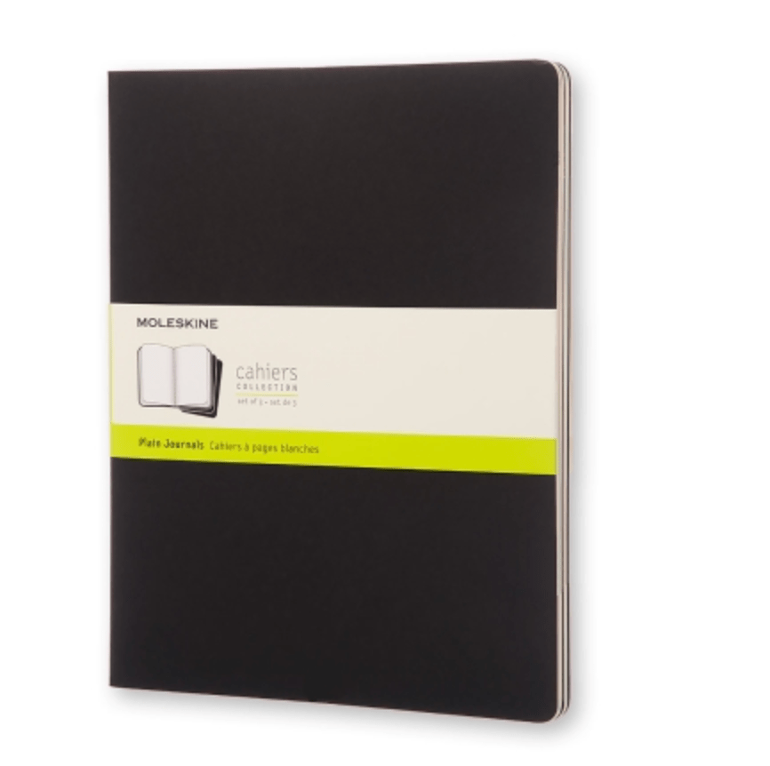 black moleskine journal