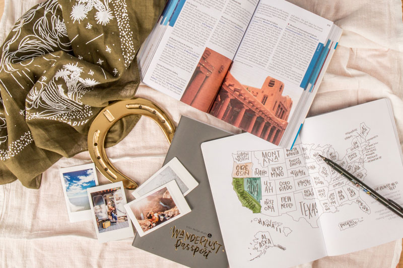 wanderlust journal with travel guide