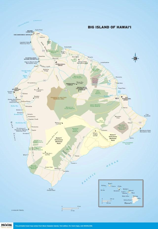 Maps - Hawaiian Islands 1e - Big Island
