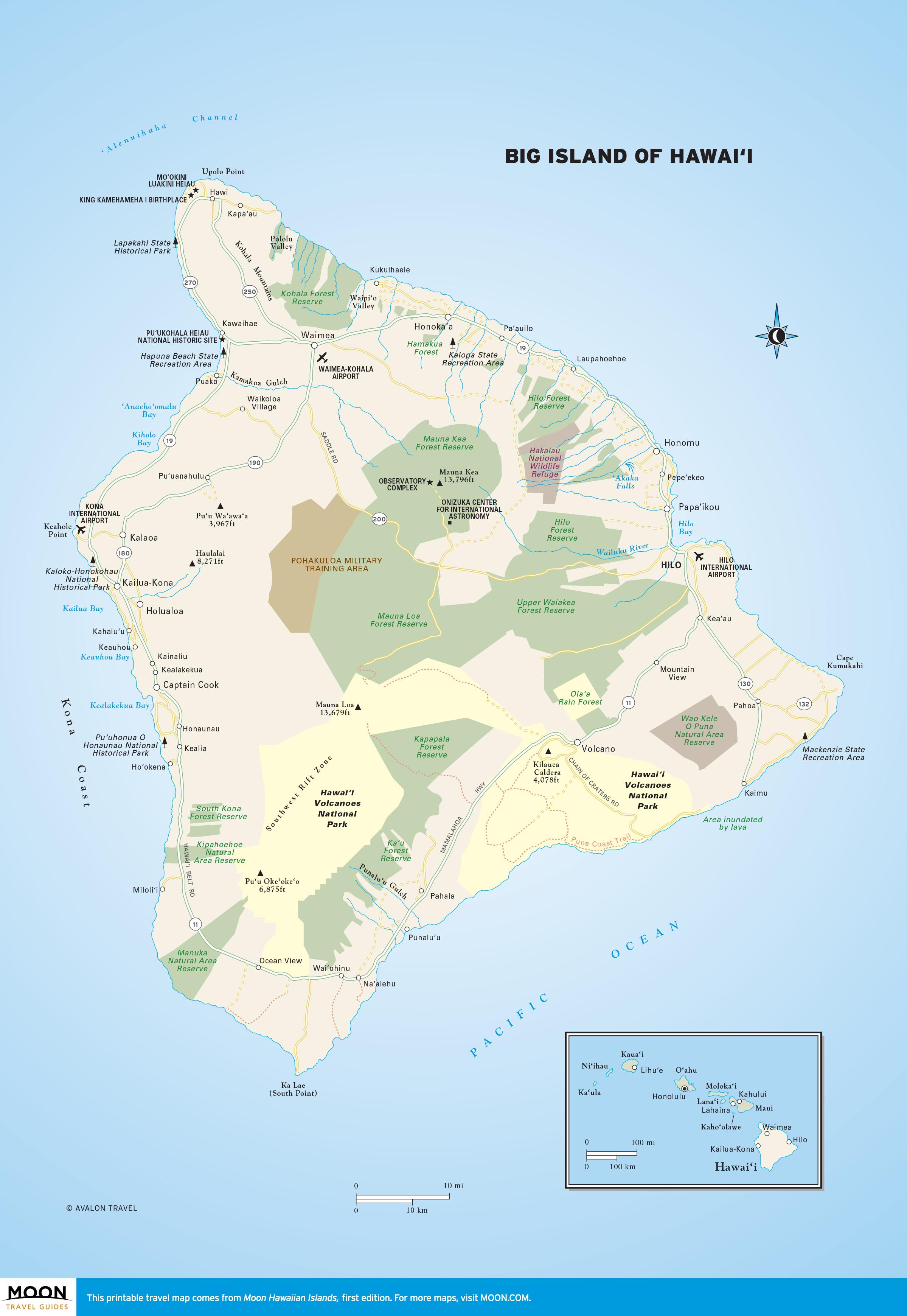 Big Island Of Hawai I Moon Travel Guides