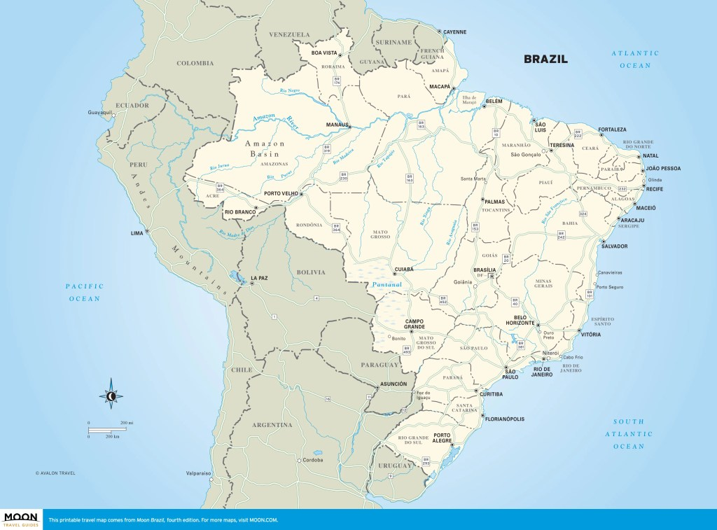 Travel map of Brazil