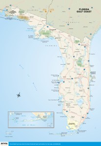 Florida Gulf Side Map.Florida Moon Travel Guides
