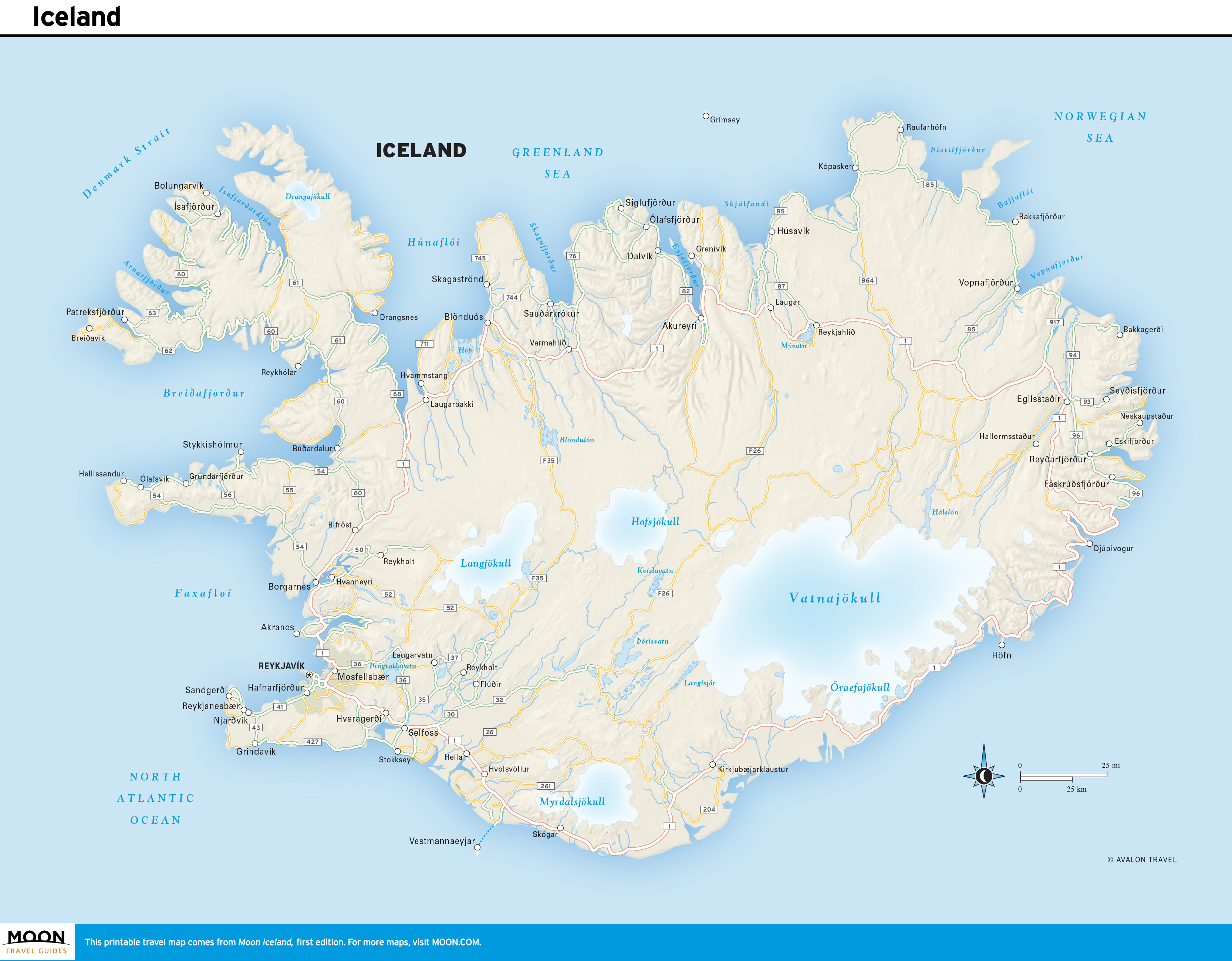 photograph regarding Printable Map of Iceland identified as Iceland Moon Drive Books