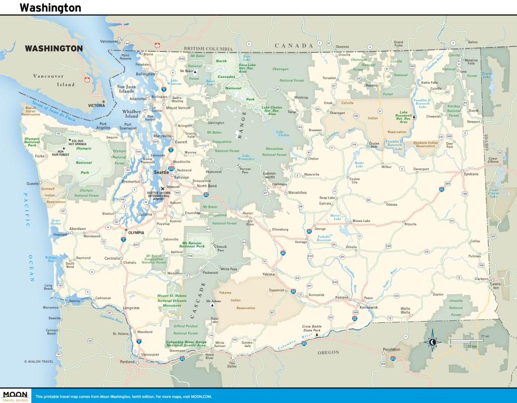 Travel Map of Washington State
