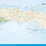 Travel map of Cuba (central).