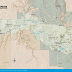 Travel map of Grand Canyon National park