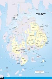 Travel map of Mount Desert Island, Maine