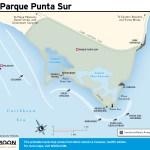 Travel map of Parque Punta Sur