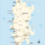 Travel map of Phuket, Thailand