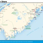 Travel map of South Shore, Nova Scotia
