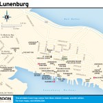 Travel map of Lunenburg, Nova Scotia