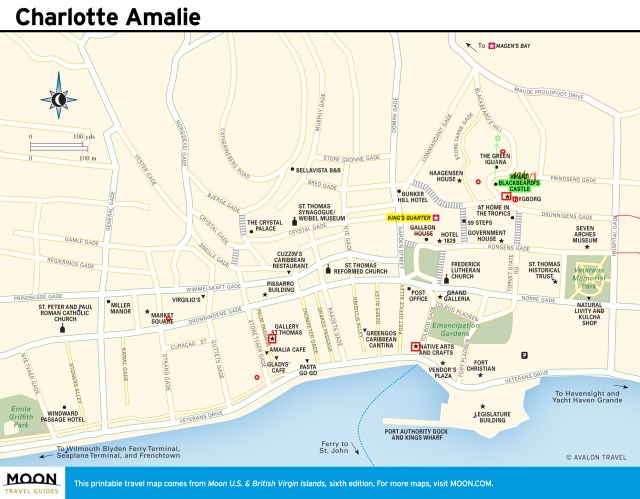 Travel map of Charlotte Amalie, Virgin Islands