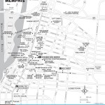 Map of Downtown Memphis, TN