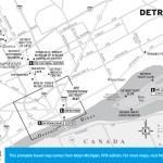 Travel map of Detroit, Michigan