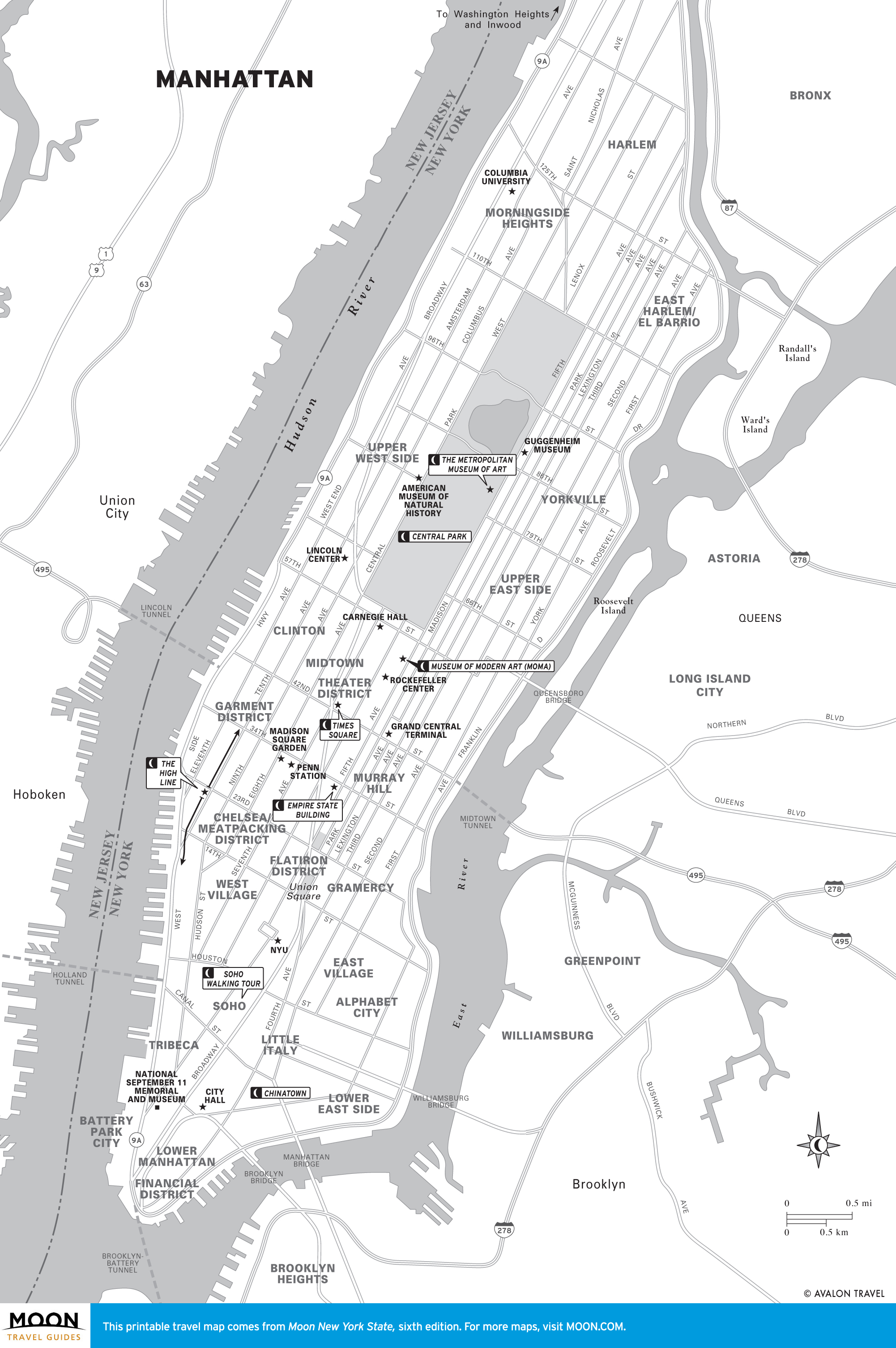 photo relating to Printable Maps of Manhattan known as Fresh new York Maps Moon Push Publications