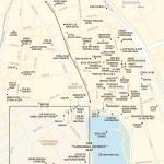 Travel map of Hanoi's Old Quarter in Vietnam