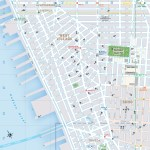 Travel map of West Village and Soho, New York City