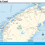 Travel map of the Fundy Coast, New Brunswick