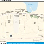 Travel map of Wolfville, Nova Scotia