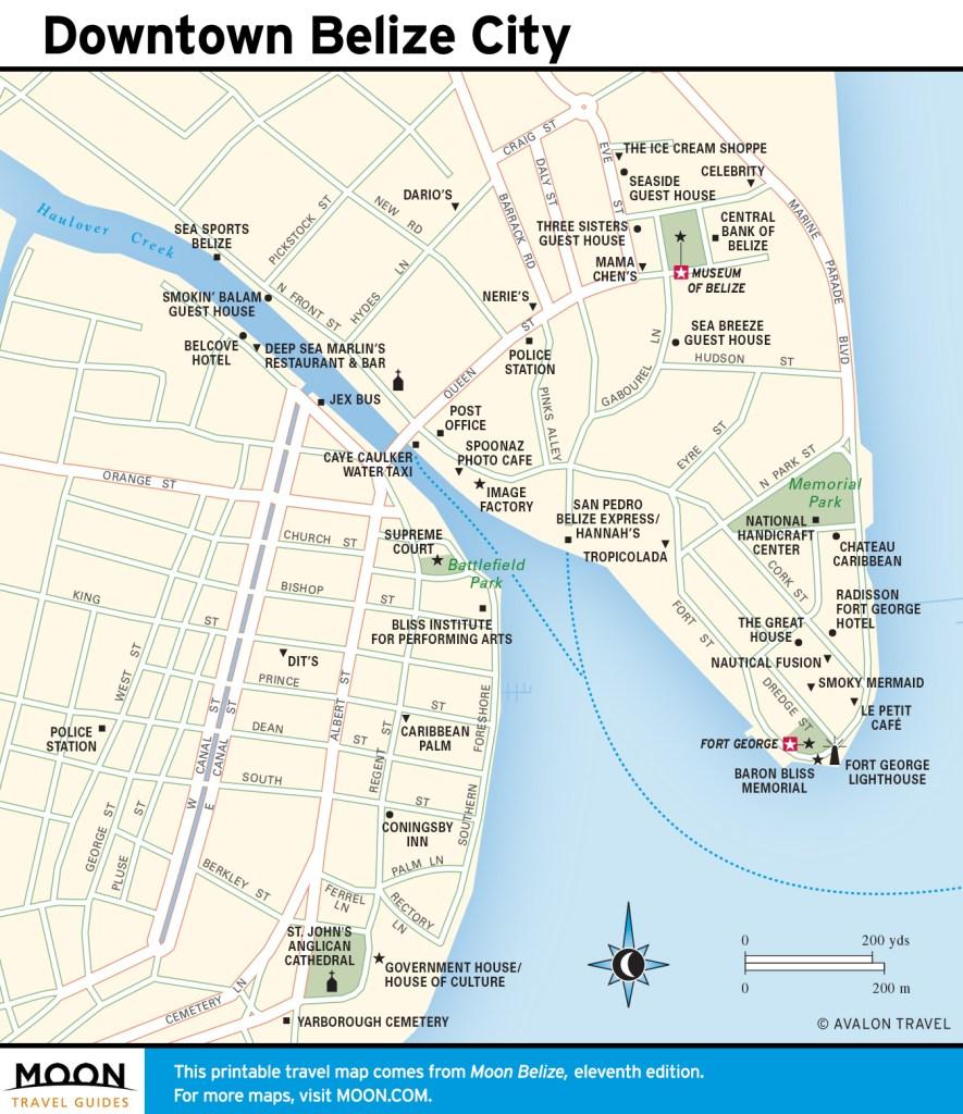 Maps - Belize 11e - Downtown Belize City