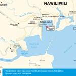 Travel map of Nawiliwili, Hawaii