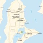 Travel map of Vashon Island, Washington