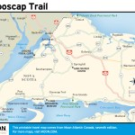 Travel map of Glooscap Trail, Nova Scotia