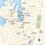 Travel map of Darling Harbour and Haymarket, Sydney, Australia.