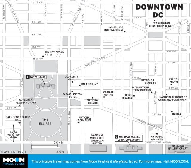 Map of Downtown Washington DC