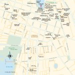 Travel map of Hanoi's French Quarter in Vietnam