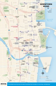 Travel map of Downtown Miami Florida