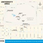 Travel map of the University Area (Albuquerque) New Mexico