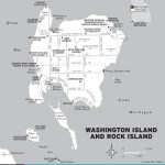 Map of Washington Island and Rock Island, Wisconsin