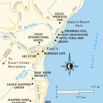 Travel map of Kapa'a, Hawaii