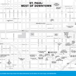 Travel map of St. Paul Minnesota, West of Downtown